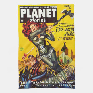 VINTAGE SCI FI (1950's PULP COVER) Hand Towel