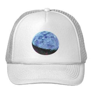 Vintage Sci Fi Blue Moon Lunar Illustration Cap
