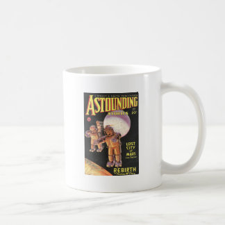 Vintage Sci Fi Comic Astounding Stories 1934 Basic White Mug