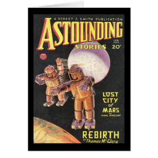 Vintage Sci Fi Comic Astounding Stories 1934 Card