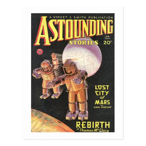 Vintage Sci Fi Comic Astounding Stories 1934 Post Cards