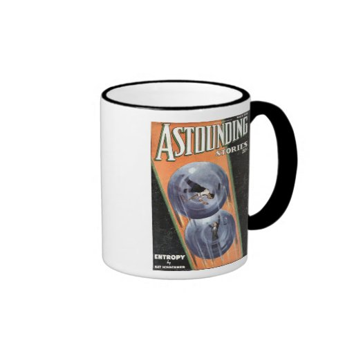 Vintage Sci Fi Comic Astounding Stories Entropy Coffee Mugs