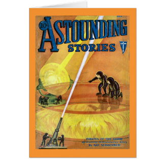 Vintage Sci Fi Comic Astounding Stories - Pirates Cards