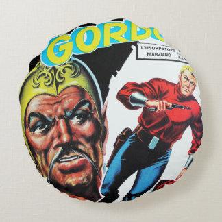 Vintage Sci-Fi Comic Book Round Cushion