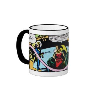Vintage Sci-Fi comic strip Ringer Mug