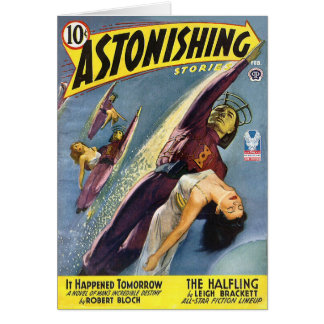 Vintage Sci-Fi Comic - The Halfling Greeting Card