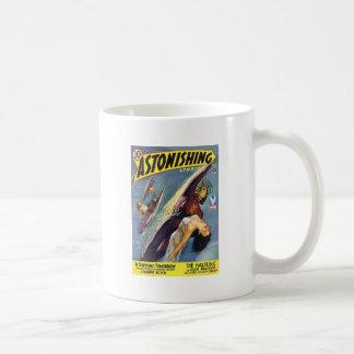 Vintage Sci-Fi Comic - The Halfling Basic White Mug