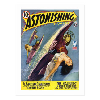 Vintage Sci-Fi Comic - The Halfling Postcard