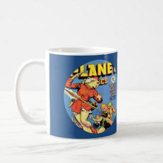 VINTAGE SCI FI COMICS (BLUE) Classic White Mug