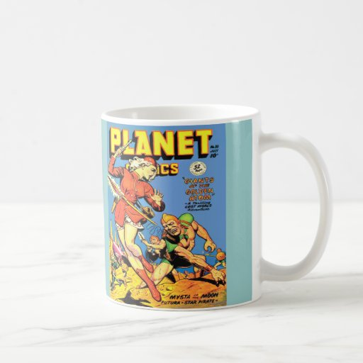 VINTAGE SCI FI COMICS Frosted Glass Mug