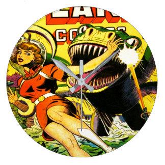 VINTAGE SCI FI COMICS (FUNKY RETRO) Wall Clock
