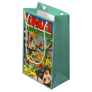 VINTAGE SCI FI COMICS Gift Bag Small Gift Bag