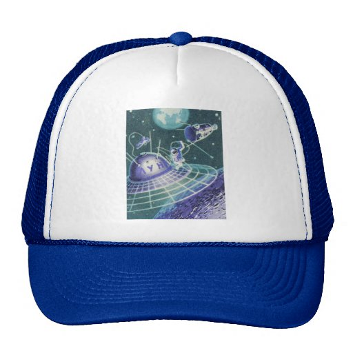 Vintage Sci Fi - Space Travel / UFO Mesh Hat