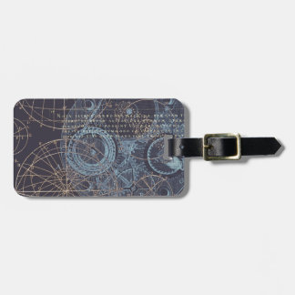 Vintage Science Book Illustration Luggage Tag