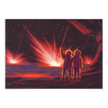 "Vintage Science Fiction Alien Red Planet Explosion 5"" X 7"" Invitation Card"