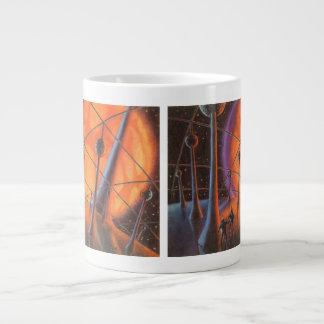 Vintage Science Fiction Aliens with a Orange Sun Jumbo Mugs