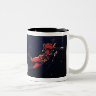 Vintage Science Fiction Astronaut in Outer Space Coffee Mug