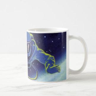 Vintage Science Fiction Astronaut on a Spacewalk Coffee Mugs