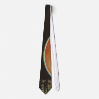 Vintage Science Fiction, Astronauts on Ganymede Tie