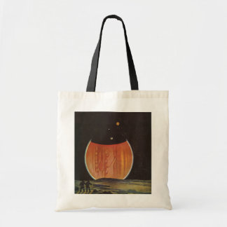 Vintage Science Fiction, Astronauts on Ganymede Budget Tote Bag