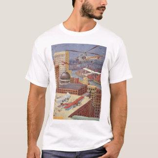 Vintage Science Fiction City, Steam Punk Machines T-Shirt