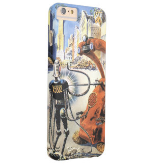 Vintage Science Fiction Futuristic City Alien Wars Barely There iPhone 6 Plus Case