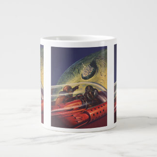 Vintage Science Fiction, Futuristic City on Moon Jumbo Mug