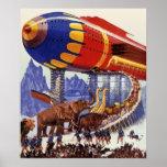 Vintage Science Fiction Noah's Ark Wild Animals Poster