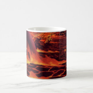 Vintage Science Fiction Red Lava Volcano Planet Mug
