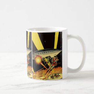 Vintage Science Fiction, Sci Fi Aliens from UFO Coffee Mug
