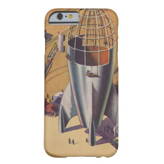 Vintage Science Fiction, Sci Fi, Building a Rocket Barely There iPhone 6 Case