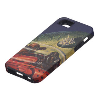 Vintage Science Fiction, Sci Fi City on the Moon iPhone 5 Case