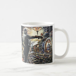 Vintage Science Fiction Sci Fi Futuristic Machines Coffee Mug
