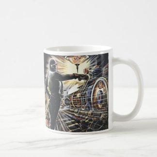Vintage Science Fiction Sci Fi Futuristic Machines Classic White Coffee Mug