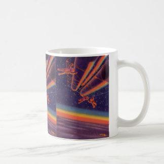 Vintage Science Fiction, Sci Fi, Rainbow Spacewalk Classic White Coffee Mug