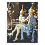 Vintage Science Fiction Spa Beauty Salon Manicures 4.25x5.5 Paper Invitation Card