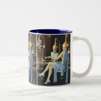 Vintage Science Fiction Spa Beauty Salon Manicures Coffee Mug