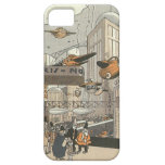 Vintage Science Fiction Steampunk Urban Paris iPhone 5 Cases
