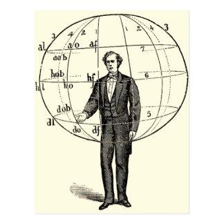 Vintage Scientific Illustration of a Man Gesturing Postcard