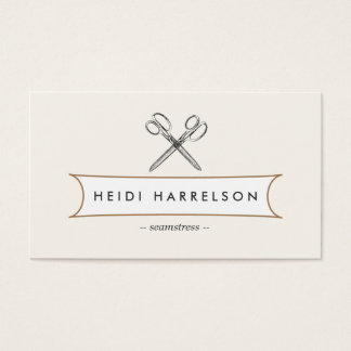 VINTAGE SCISSORS LOGO for Seamstress, Crafters Business Card