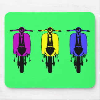 Vintage scooter pop art style mouse pad