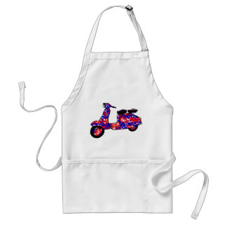 Vintage scooter red white blue rag roll style standard apron