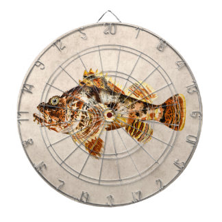 Vintage Scorpion Fish - Antique Hawaiian Print Dartboard