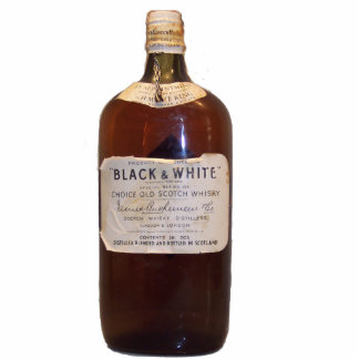 Vintage Scotch Whiskey Standing Photo Sculpture