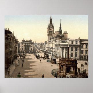 Vintage Scotland, Aberdeen Castlegate c1905 Poster