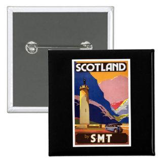 Vintage Scotland Pinback Buttons