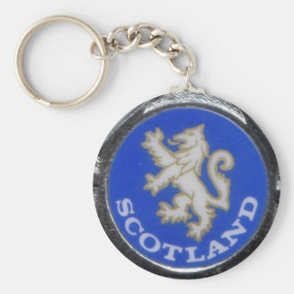 vintage scotland badge key ring