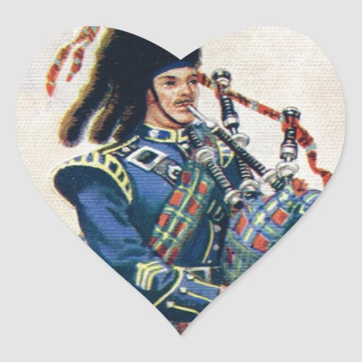 Vintage Scotland, Follow the Bagpipes Stickers