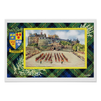 Vintage Scotland, Fraser, Gordon, Edinburgh Castle Poster