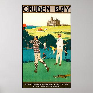 Vintage Scotland Golf Poster